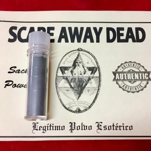 ☆ SCARE AWAY DEAD ☆ LEGITIMO POLVO ESOTERICO !!! SACHET POWDER