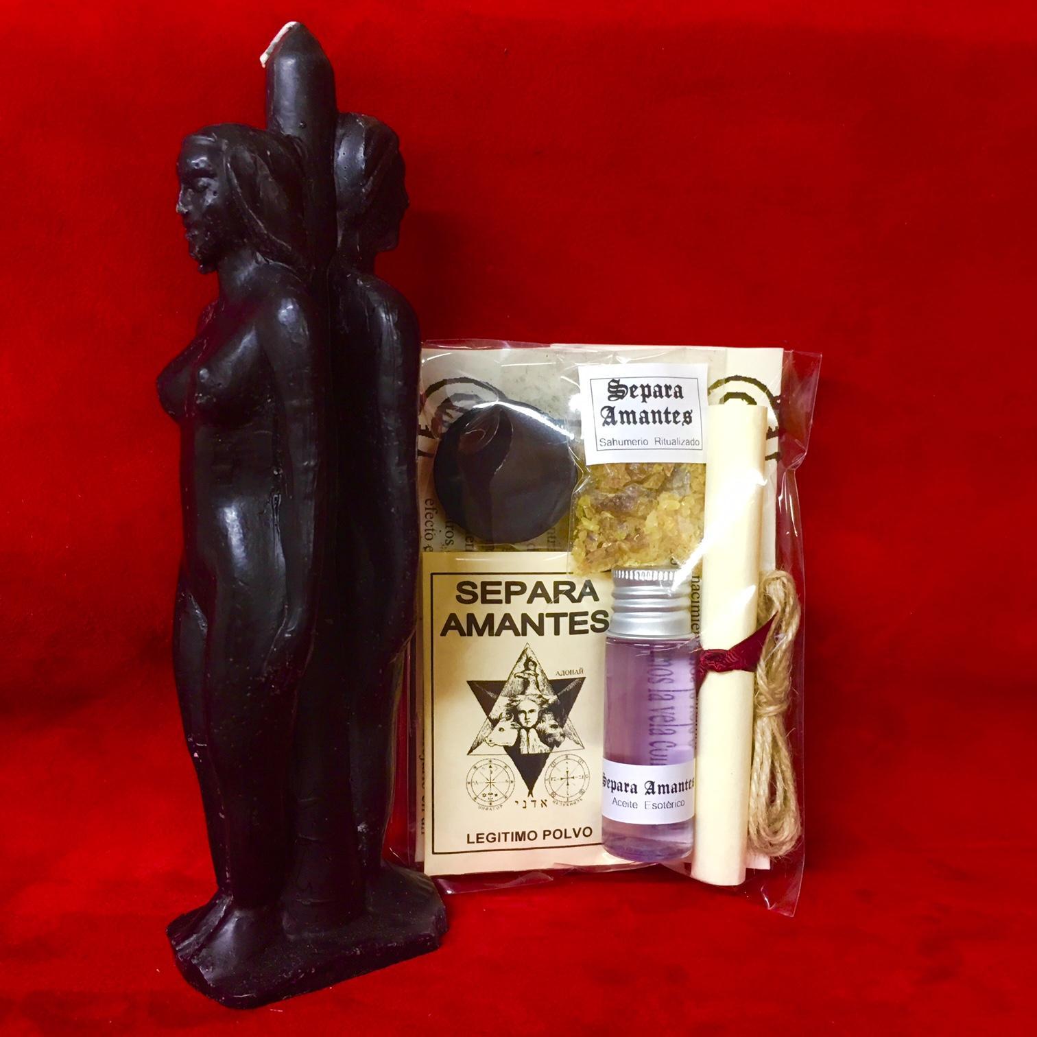  KIT RITUAL⭐️ SEPARA AMANTES ⭐️VELA +SAHUMERIO+POLVO+ACEITE• INSTRUCCIONES -