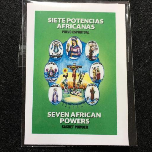 7 POTENCIAS AFRICANAS POLVO ESPIRITUAL