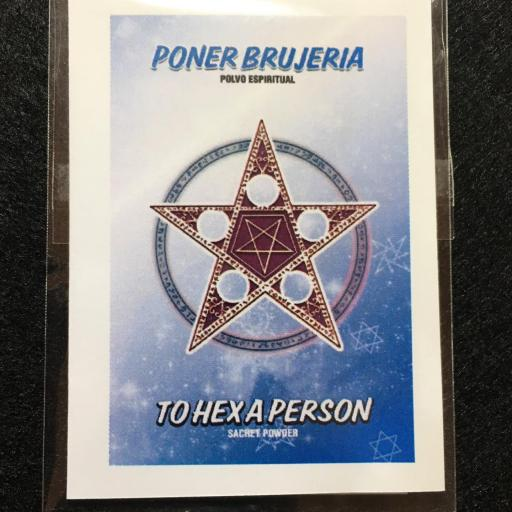 PONER BRUJERIA  POLVO ESPIRITUAL
