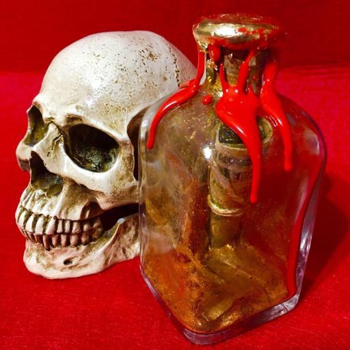 Botella de la Fortuna y Dinero 9 cm Amuleto Ritualizado
