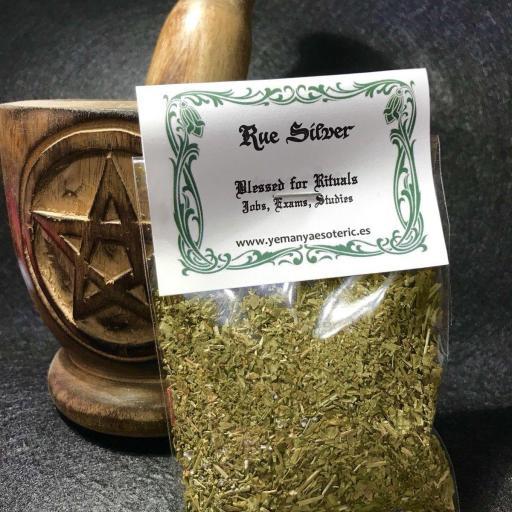 RUDA & PLATA Bendecida para Rituales  Trabajo, Examenes, Estudios