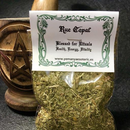 RUDA & COPAL Bendecida para Rituales  Salud, Energía, Vitalidad