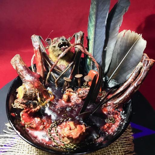 Poderosa Ofrenda para el Demonios - solo para ritos y ceremonias para el diablo - magia negra - magia roja - ritual satánico - magia mayor  [2]