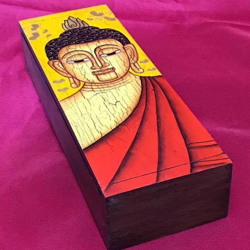 Caja Madera de Teka Buda