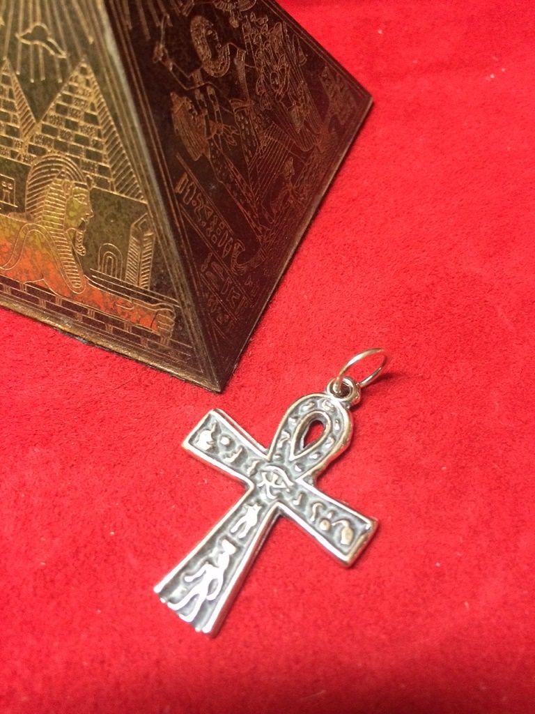 CRUZ EGIPCIA ANSADA ANKH 3cm PLATA DE LEY 925