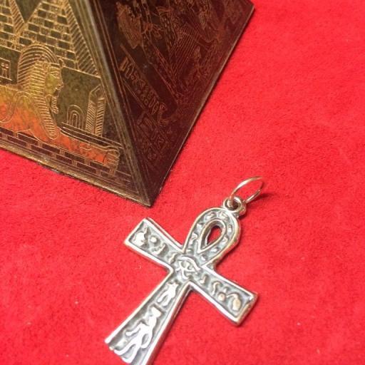 CRUZ EGIPCIA ANSADA ANKH 3cm PLATA DE LEY 925  [0]