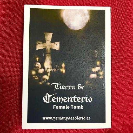 ☆ TIERRA DE CEMENTERIO ☆ TUMBA DE MUJER