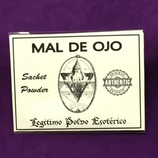 ☆ MAL DE OJO ☆ LEGITIMO POLVO ESOTERICO 20 GRAMOS