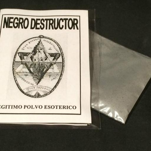 "LEGITIMO POLVO ESOTERICO ESPECIAL "" NEGRO DETRUCTOR """