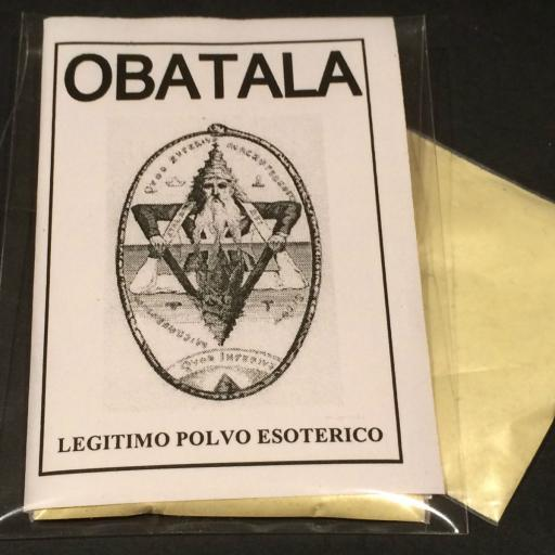 "LEGITIMO POLVO ESOTERICO ESPECIAL "" OBATALA """