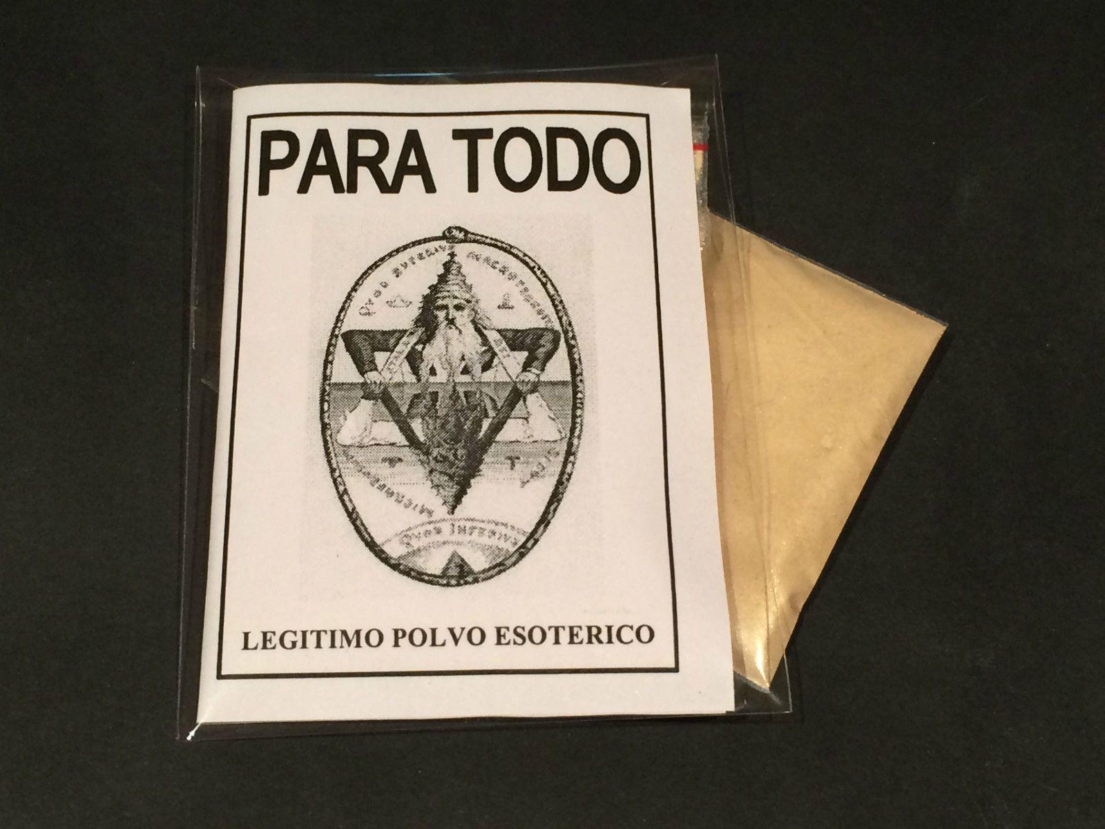 """LEGITIMO POLVO ESOTERICO ESPECIAL """" PARA TODO """""""