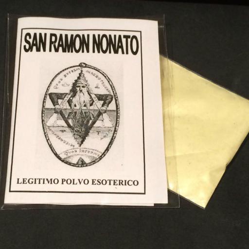 """LEGITIMO POLVO ESOTERICO ESPECIAL """" SAN RAMON NONATO """""""