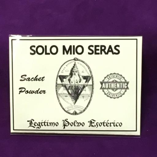 ☆ SOLO MIO SERAS ☆ LEGITIMO POLVO ESOTERICO 20 GRAMOS