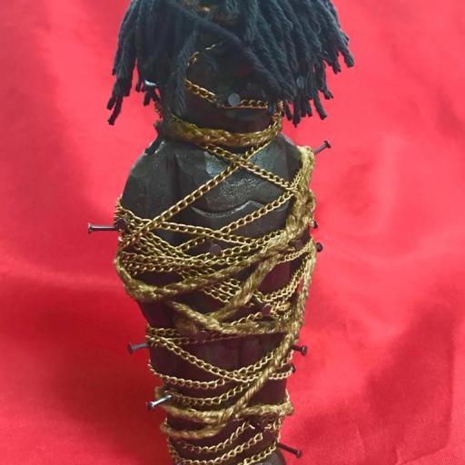 POWER FIGURE TIED Nkisi Nkonde fetiche África Kongo 22 cm Yombe Bakongo Nkisi Nkondi