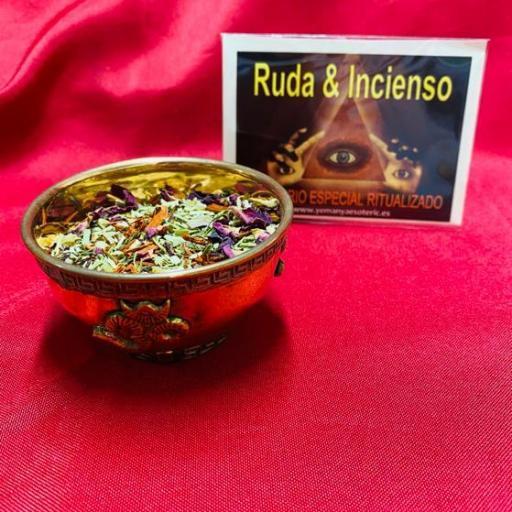 SAHUMERIO ESPECIAL RITUALIZADO RUDA & INCIENSO
