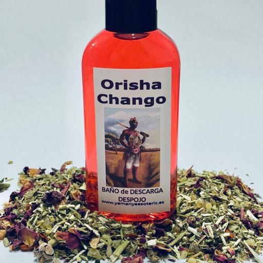 "BAÑO de DESCARGA DESPOJO "" ORISHA CHANGO "" 100 ml"