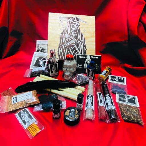 NEW! ☆ SANTA MUERTE ☆ BOX RITUAL KIT ALTAR ☆ ( RITUAL PRODUCTS BOX )