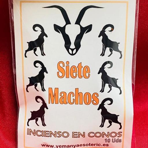 """INCIENSO ESOTERICO CONOS """" SIETE MACHOS """""""