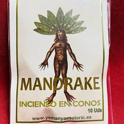 """INCIENSO ESOTERICO CONOS """" MANDRAGORA """""""