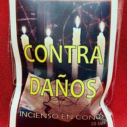 """INCIENSO ESOTERICO CONOS """" CONTRA DAÑOS """""""