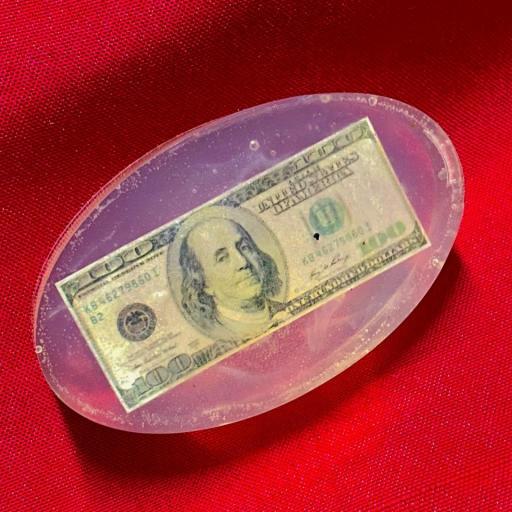 """Jabon Esoterico con Amuleto """" Dollar """" 60gr. dinero, juegos, loterias, ganancias"""