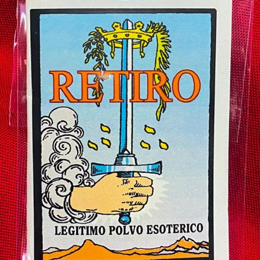 "LEGITIMO POLVO ESOTERICO ESPECIAL "" RETIRO"""