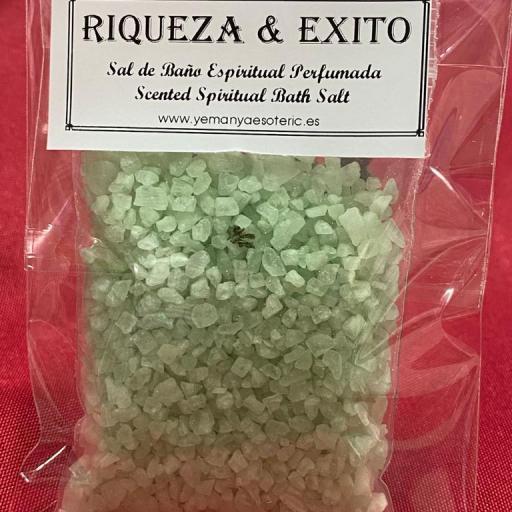 RIQUEZA Y EXITO -  SAL DE BAÑO ESPIRITUAL  50 gr.