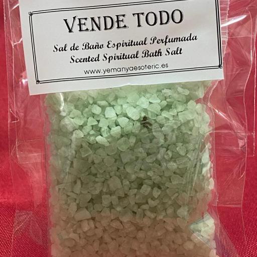 VENDE TODO  -  SAL DE BAÑO ESPIRITUAL  50 gr.