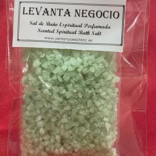 LEVANTA NEGOCIO -  SAL DE BAÑO ESPIRITUAL  50 gr.