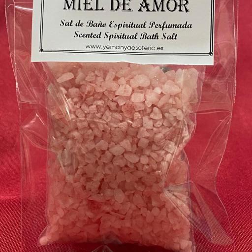 MIEL DE AMOR -  SAL DE BAÑO ESPIRITUAL  50 gr.