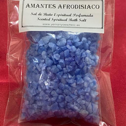 AMANTES AFRODISIACO -  SAL DE BAÑO ESPIRITUAL  50 gr.