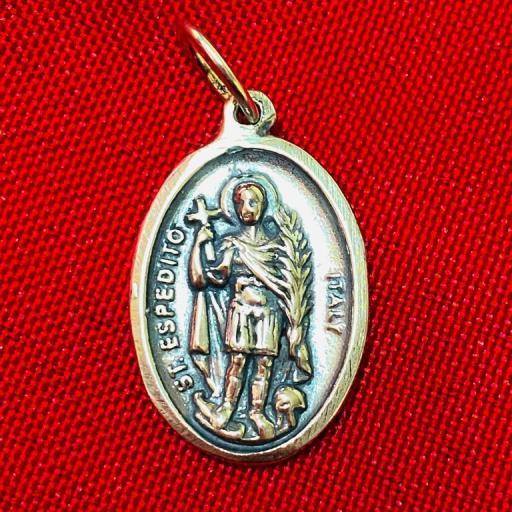 MEDALLA SAN EXPEDITO 2,5 cm. PLATA DE LEY 925