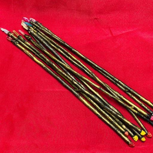 WHOLESALE SHOPPING  ----  LOTE X 10 Fantasticas Varitas Magicas Decoradas  Madera de Ruda