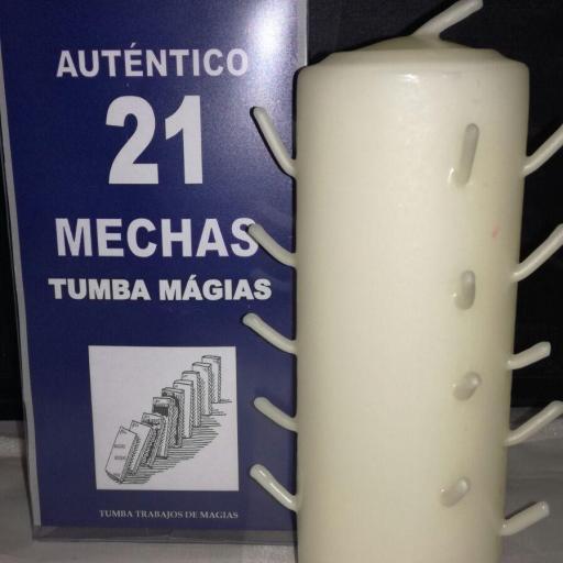 AUTENTICO VELON 21 MECHAS BLANCO