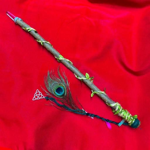 Fantastica Varita Magica Wicca ⛤PROTECCIÓN ,BRUJERIAS ,HECHIZOS⛤ madera de ruda