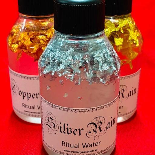 "LOTE X 3 WATER OF RITUAL "" SILVER RAIN, GOLD RAIN, COPPER RAIN "" 100ml"
