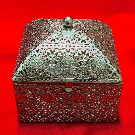 CAJA ALTAR FILIGRANA PLATEADA 14X14X10 RITUAL ALTAR BOX WITCHES