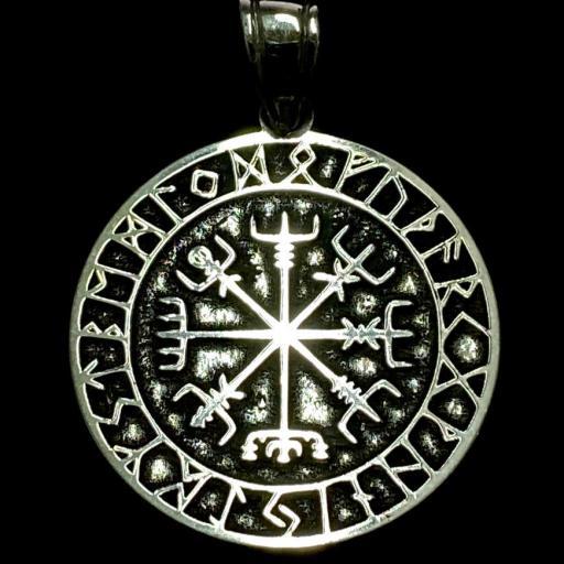 Colgante Calendario Vikingo 3 cm Plata de Ley 925