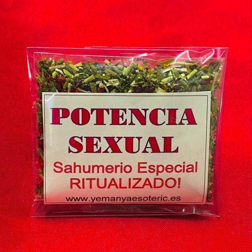 SAHUMERIO ESPECIAL RITUALIZADO  POTENCIA SEXUAL.  [0]
