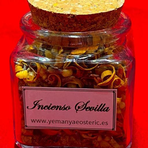 Incienso Sevilla Tarro cristal - 50 gramos aprox.