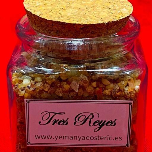 Incienso Tres Reyes Tarro cristal - 50 gramos aprox.