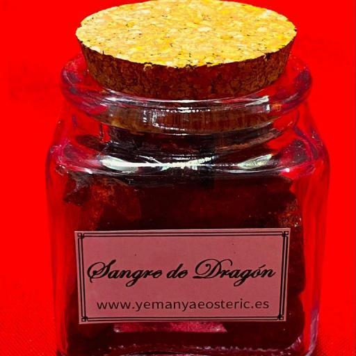 Incienso Resina Sangre de Dragón Tarro cristal - 50 gramos aprox.