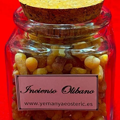 Incienso Olibano Tarro cristal - 50 gramos aprox.