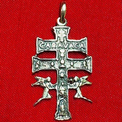 CRUZ DE CARAVACA 4´5cm PLATA DE LEY 925