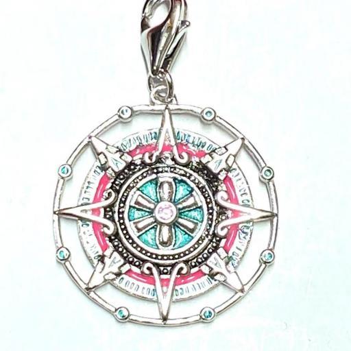 Amuleto - Colgante - Abre Caminos - Cambia Rumbo - Plata de Ley 925 (Ritualizado) 3 cm