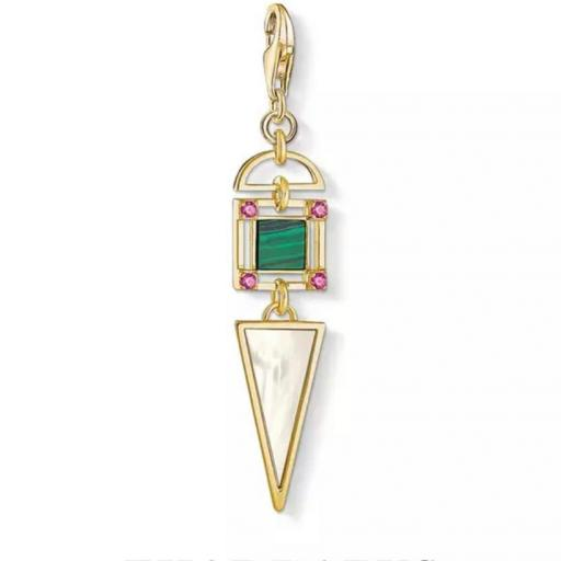 Amuleto - Colgante Geométrico Minerales Axis Mundi  - Plata de Ley 925 (Ritualizado) 50mm