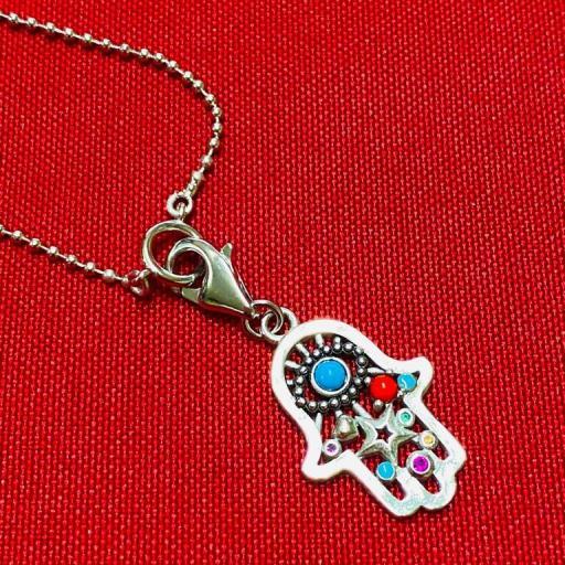 Colgante - Amuleto - Mano de Protección  - Plata de Ley 925 (Ritualizado) 25mm
