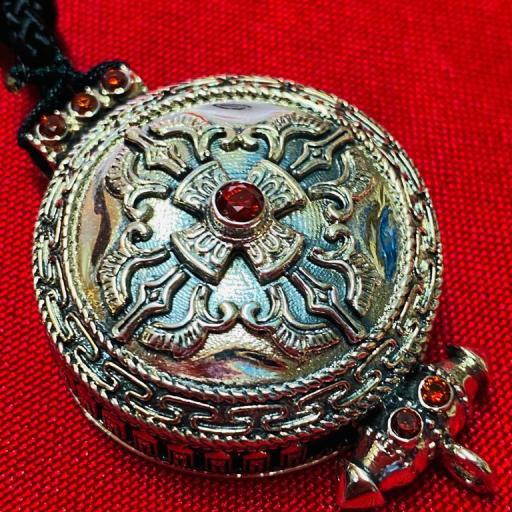 Amuleto Tibetano - protección , envidias , viajes - Plata de ley 925