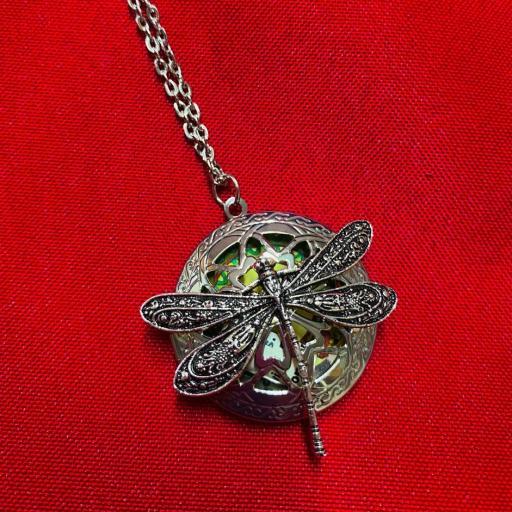 Colgante Libélula - Amuleto Ritualizado Runas de la Bruja